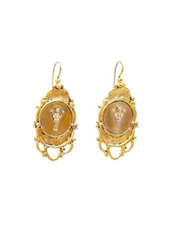 Large Divine Mojo Earrings - Silver & Gold