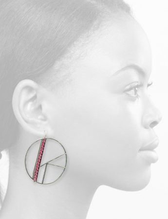 Large OK Earrings – Pink