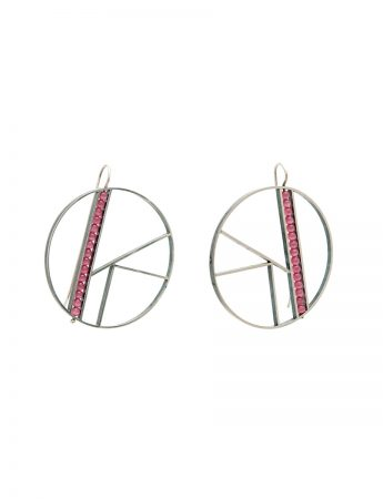 Large OK Earrings - Pink