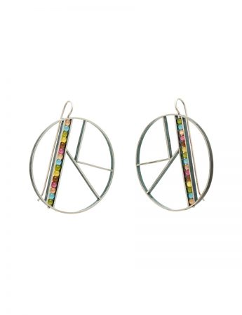 Large OK Earrings - Rainbow