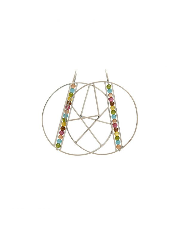 Large OK Earrings – Rainbow