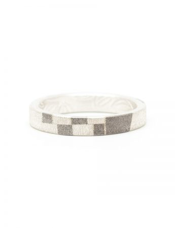 Patterned Chogak Lucky Ring - Silver & Monel