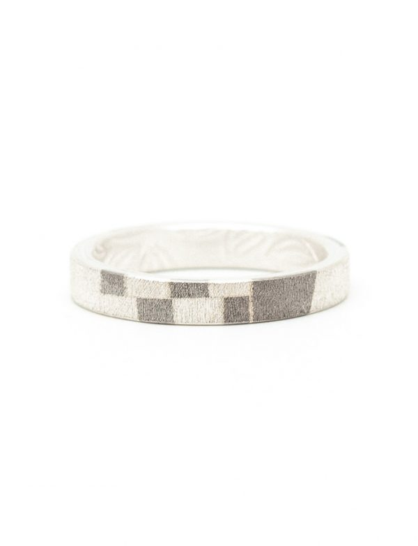 Patterned Chogak Lucky Ring – Silver & Monel