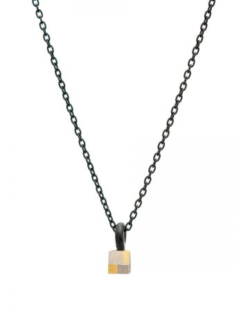 Petite Square Terrain Necklace - White & Yellow Gold