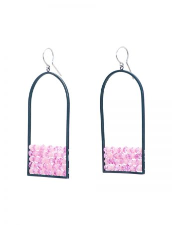 Arch Reef Earrings - Peruvian Opal & Pink Topaz