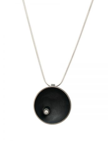 Black Sea Dish Pendant - Diamond