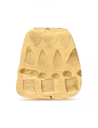 Small Trapezoid Single Stud Earring - Gold