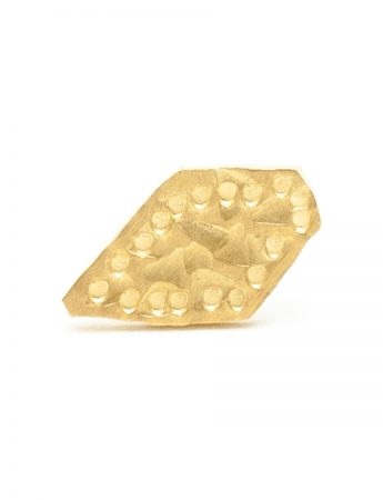 Small Abstract Single Stud Earring - Gold