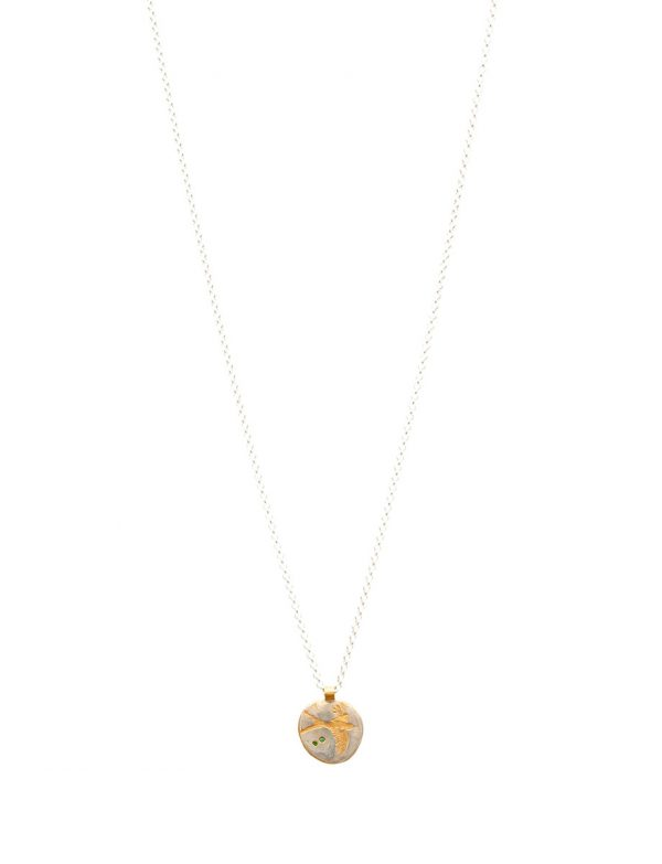 Swallow Charm Pendant Necklace – Emerald