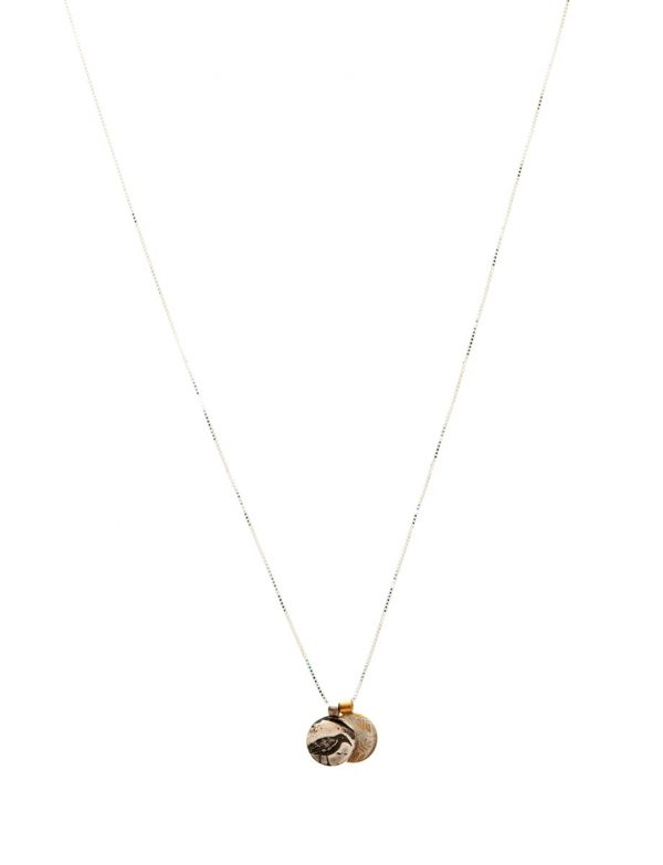 Two Charm Necklace – Bird & Leaves