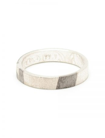 Wide Chogak Lucky Ring - Silver & Monel