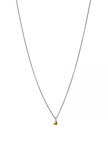 XO Love Heart Charm Necklace - Yellow Gold & Diamond