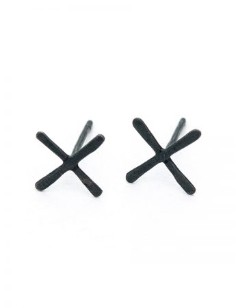 XX Stud Earrings - Black