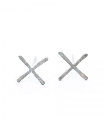 XX Stud Earrings - Silver