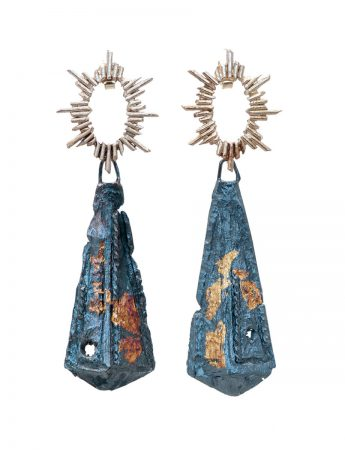 Zoraida I Earrings - Black & Gold