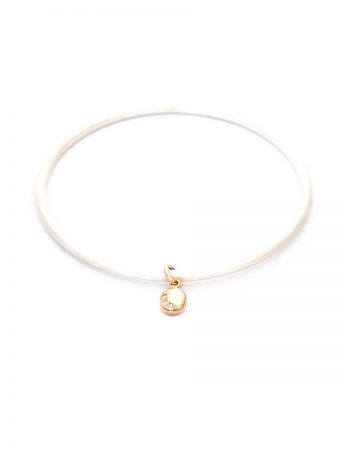 Glimmer Bangle - Silver, Rose Gold & Diamond