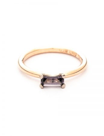 Glimmer Two Stack Ring – Rose Gold, Diamond & Spinel