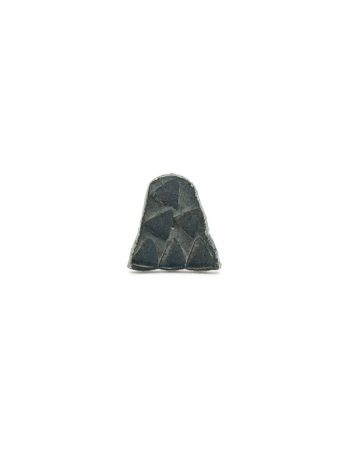 Small Triangle Single Stud Earring - Black