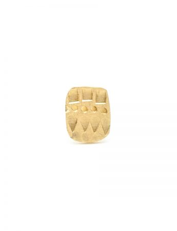 Small Rectangle Single Stud Earring – Gold
