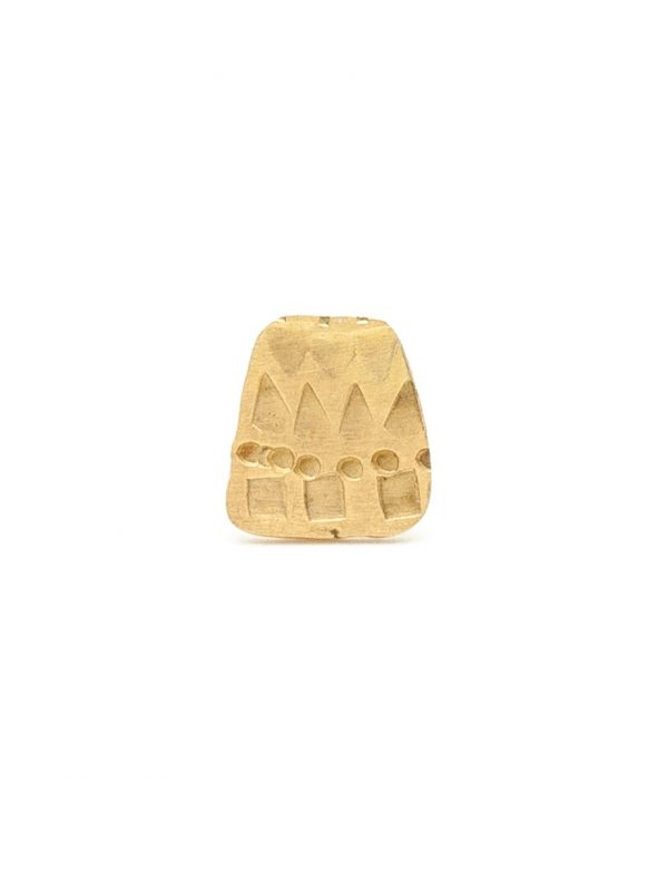 Small Trapezoid Single Stud Earring – Gold