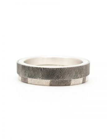 Chogak Lucky Interlocking Ring - Silver & Monel
