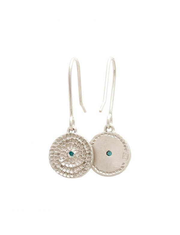 Continuum Earrings – Silver & Blue-Green Tourmalines