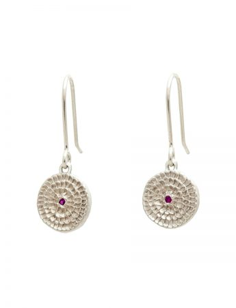 Continuum Earrings - Sterling Silver And Rubies