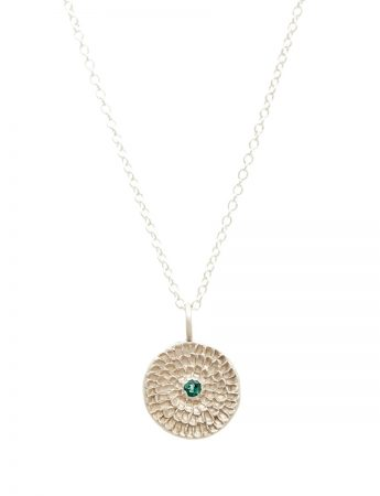 Continuum Necklace - Silver & Blue-Green Tourmaline