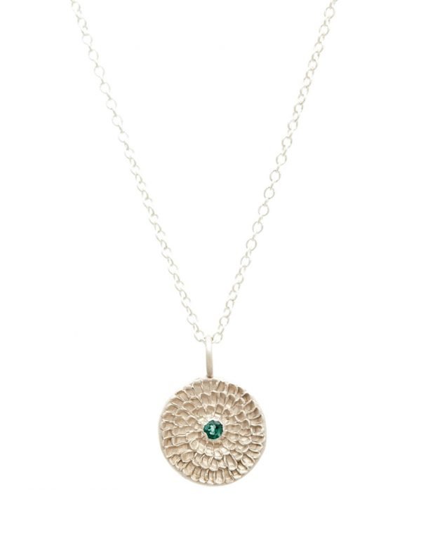 Continuum Necklace – Silver & Blue-Green Tourmaline