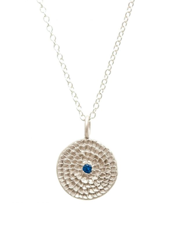 Continuum Necklace – Silver & Blue Sapphire