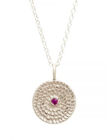 Continuum Necklace - Silver & Ruby