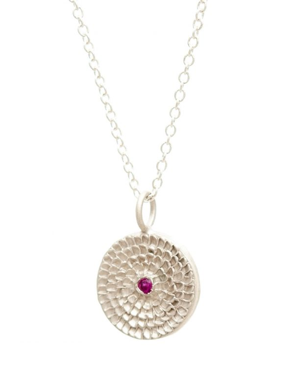 Continuum Necklace – Silver & Ruby
