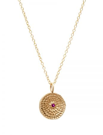 Continuum Necklace - Gold & Ruby