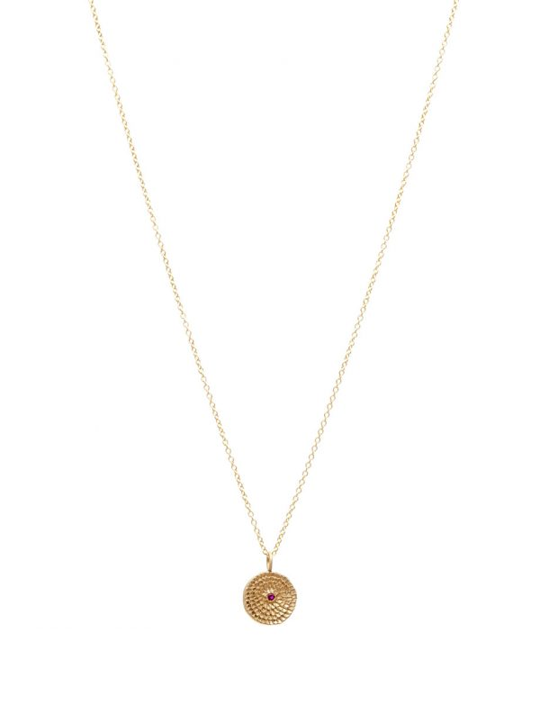 Continuum Necklace – Gold & Ruby