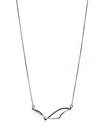 Continuum Sway Reversible Necklace - Black & Silver