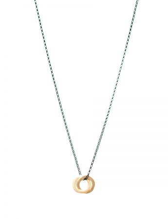 Double Halo Pendant Necklace - Yellow Gold