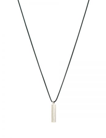 Long Rod Geo Pendant Necklace - Silver