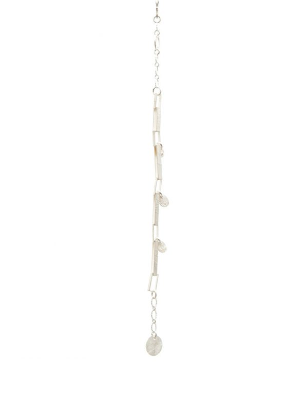 Rectangular Chain Bracelet – Sterling Silver And Yellow Gold Keum-Boo