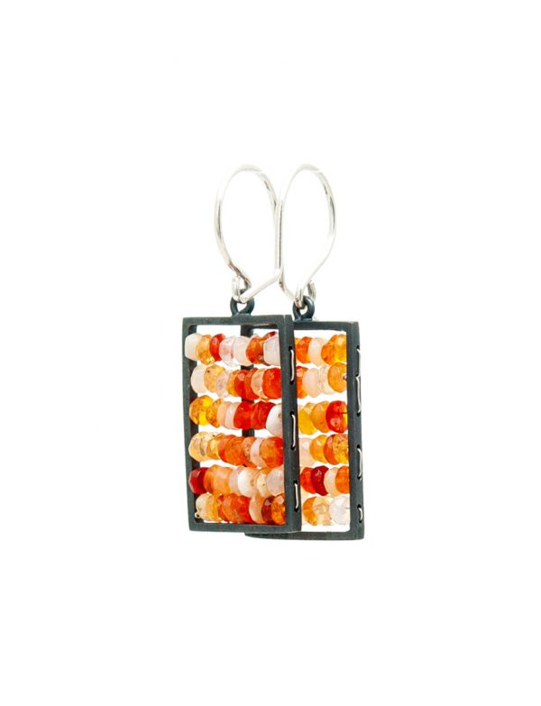 Rectangle Reef Earrings – Mexican Fire Opals