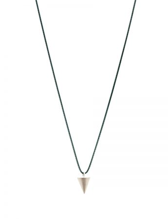 Short Cone Geo Pendant Necklace - Silver