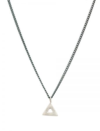 Triangle Pendant Necklace - Silver