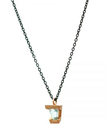 Terrain Pendant Necklace - Aquamarine