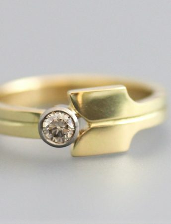 Wallflower Ring - Gold & Diamond