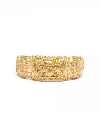 City At Great Confluence Ring - Yellow Gold