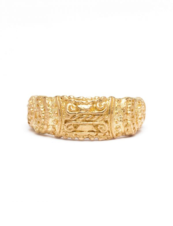 City At Great Confluence Ring – Yellow Gold