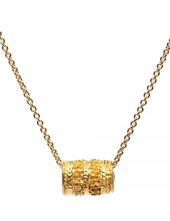 Cylinder Seal Necklace - Yellow Gold