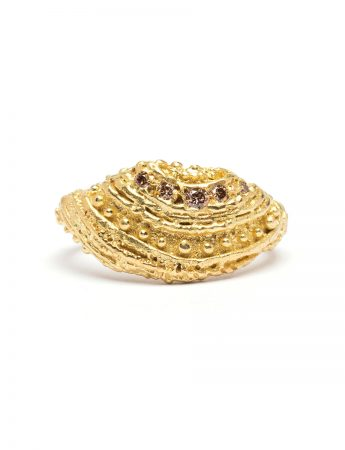 Field Of Reeds Ring - Yellow Gold & Diamond