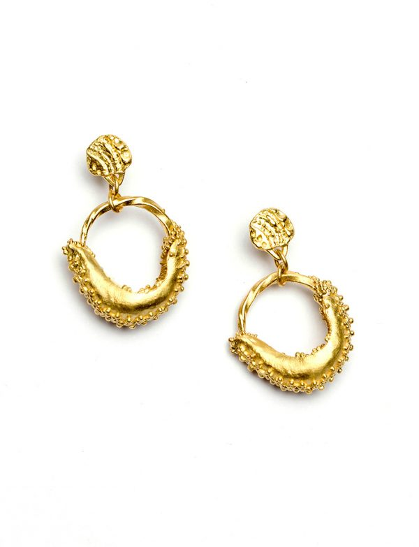 Land Between Two Rivers Earrings – Yellow Gold
