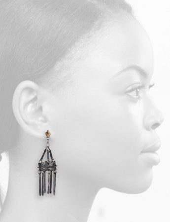 Medievo Earrings - Black & Gold