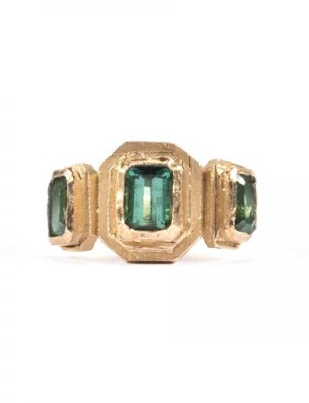 El Rapto de Europa Ring - Green Tourmaline